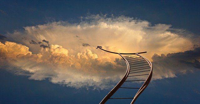 雲の上のはしご
